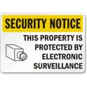 Security Notice - This Property is Protected By Electronic Surveillance 18 x 12