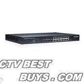 GeoVision - 84-POE1611-001U - GV-POE1611 - 16 port 250W 802.3at 2-Port Gigabit Copper/SFP Combo Uplink