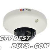 ACTi - D91 - 1MP Indoor Mini Dome with Fixed lens, f2.93mm/F2.0, H.264, 720p/30fps, DNR, MicroSDHC/MicroSDXC, PoE, IK08