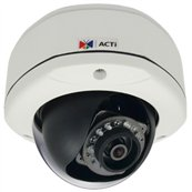 ACTi D71 - 1MP Outdoor Dome with D/N, IR, Fixed lens, f2.93mm/F2.0, H.264, 720p/30fps, DNR, MicroSDHC, PoE, IP66, IK10