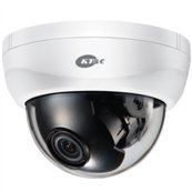 KT&C KPC-HDD122MB 2.1MP HD Indoor Dome, 2.45mm Fixed Lens, OSD, DC12V, White Body